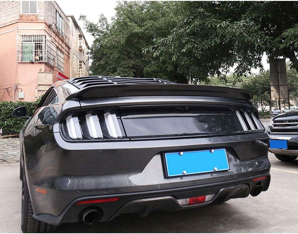 Spoilers arri/ère en fibre de carbone Botte de coffre arri/ère Spoiler Aile pour couvercle de l/èvre Pour ailes de spoiler /à l/èvre arri/ère en fibre de carbone pour Ford Mustang GT V8 V6 Coup/é 15-19,Blue
