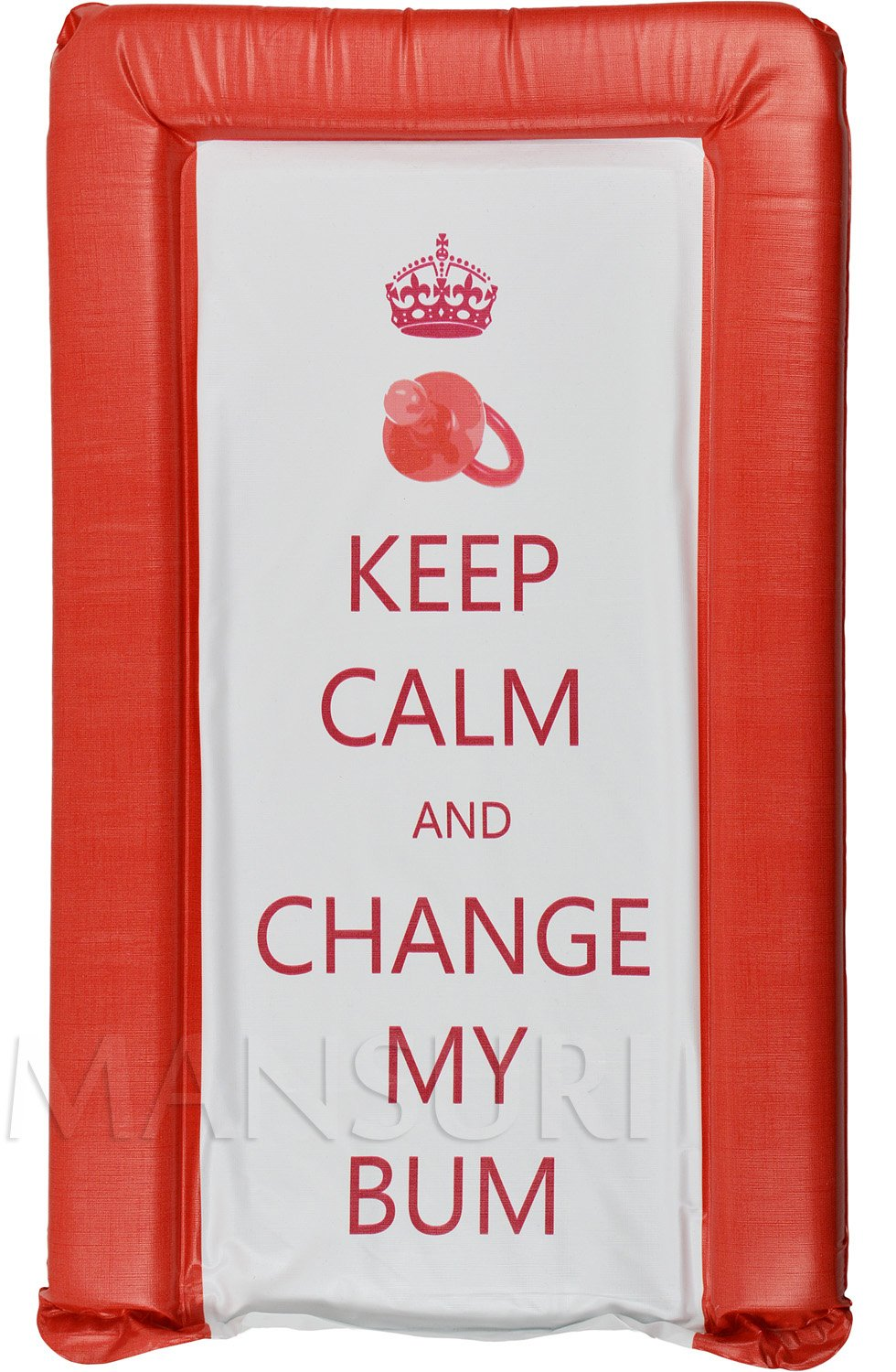 Its A Baby Keep Calm and Change My Bum Changing Mat Blue