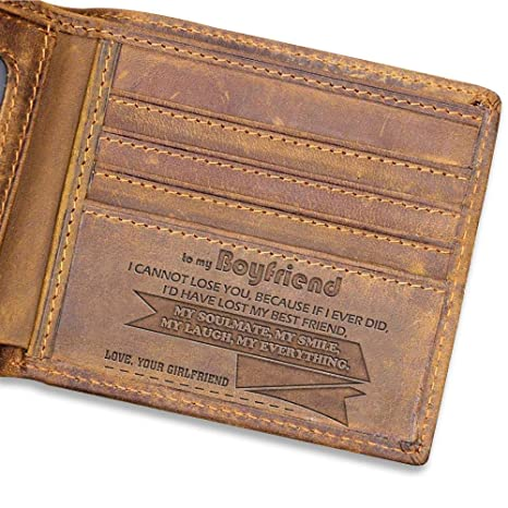 Amazon To My Boyfriend Leather Wallet