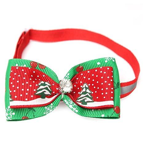 Kungfu Mall Collare Con Papillon Regolabile Di Natale Per Animali