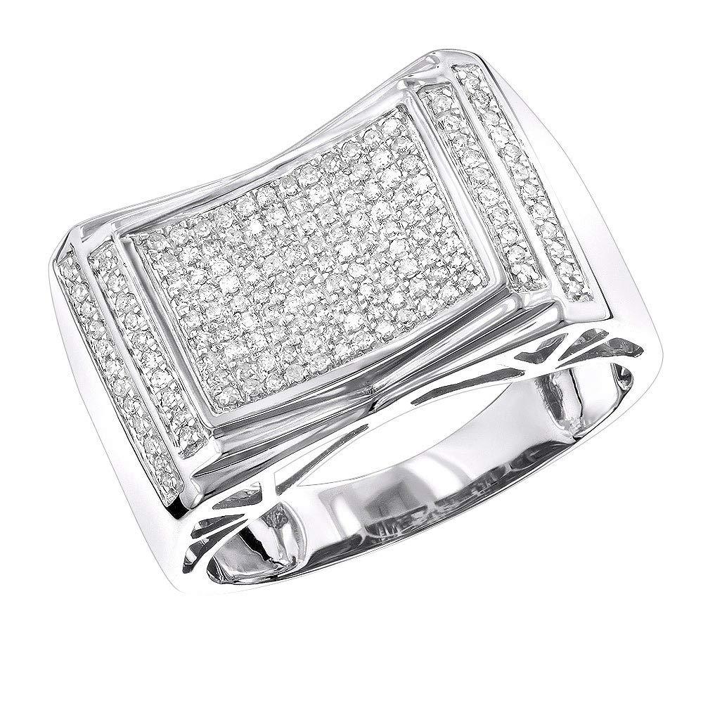 1.50ct Mens Titanium Gold Tone Wedding Engagement Band Ring