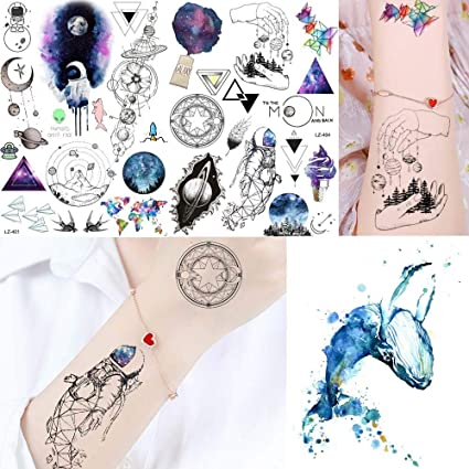 Tatuajes Temporales Adultos Niños Universo Tatuajes Adhesivos ...