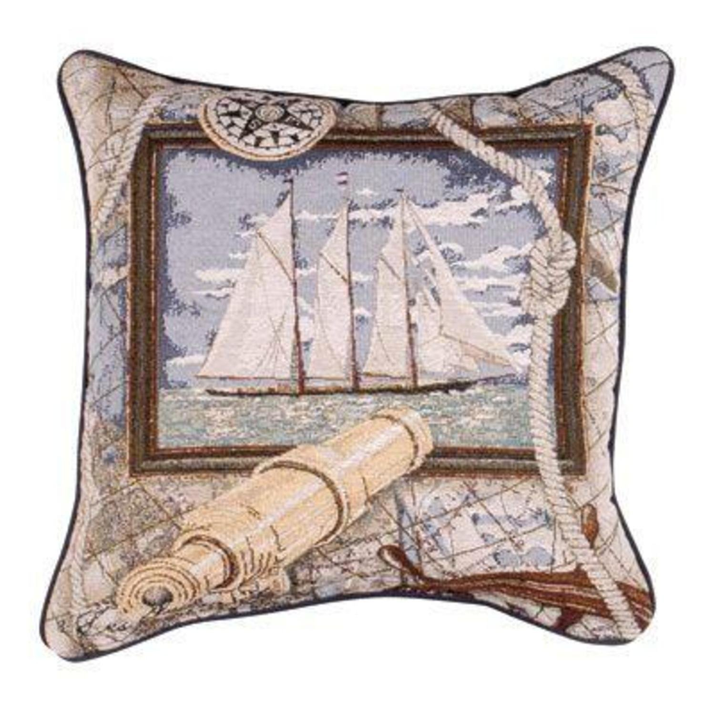 amazoncom sailing nautical decorative tapestry toss pillow home  - amazoncom sailing nautical decorative tapestry toss pillow home  kitchen