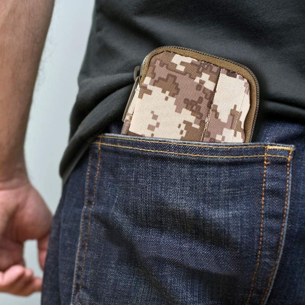 Alomejor Campa/ña t/áctica Monedero de Nylon Impermeable a la Cintura Bolsa Militar campa/ña Haciendo Juego para Acampar
