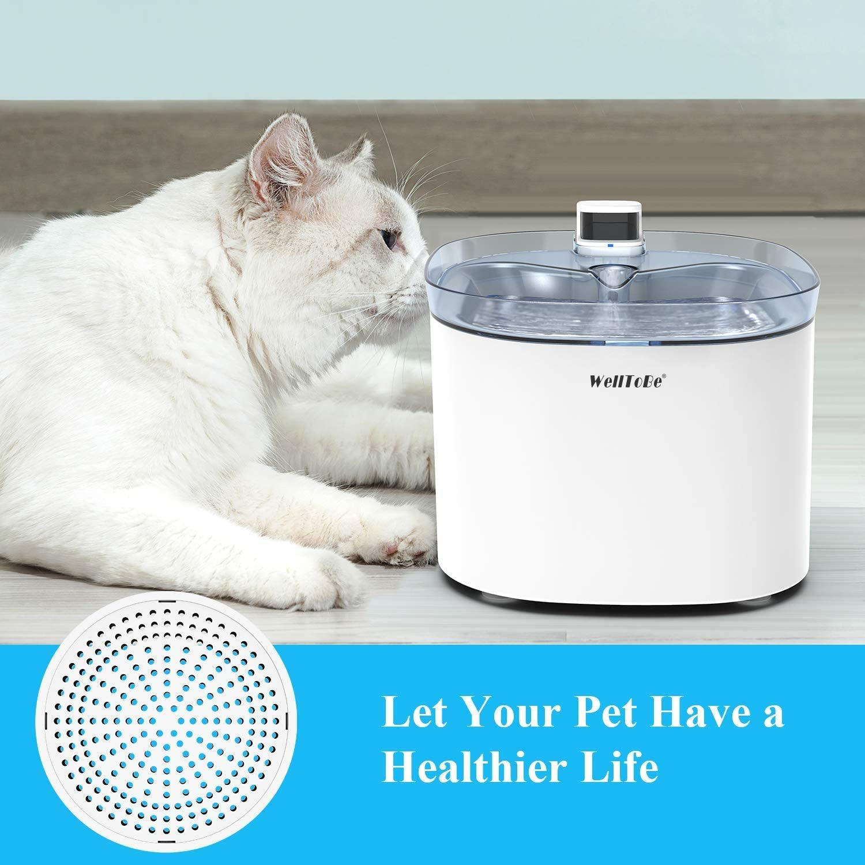 WellToBe Filtros de Repuesto para Fuente de Agua para Gatos Paquete de 3