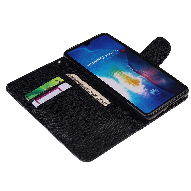 Dclbo H/ülle f/ür Huawei Mate 20 Lite Schutzh/ülle Leder Handytasche H/ülle Case mit Kartenfach Muster Flip Cover Tasche Magnet Klapph/ülle Ledertasche Etui Handyh/ülle f/ür Huawei Mate 20 Lite-#2 Muster