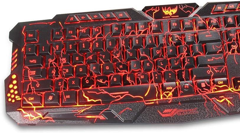 Juego de teclado y ratón para videojuegos (no necesariamente español) Schwarz Riss