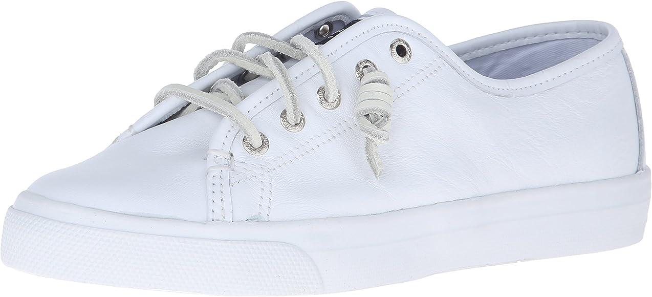 Seacoast Fashion Sneaker, White Leather