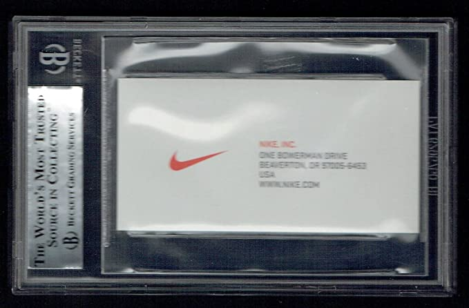 Phil knight signed autograph auto business card co founder of nike phil knight signed autograph auto business card co founder of nike bas slabbed colourmoves