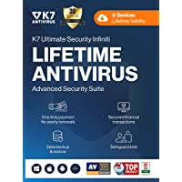 K7 Ultimate Security Infiniti Antivirus 2021 for Lifetime Validity | 5 Devices | Threat Protection,Internet Security…