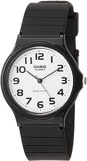 CASIO 2729 MQ-24-7B - Reloj Caballero Cuarzo Correa Caucho Negro dial Blanco 8b4da0b9ed40