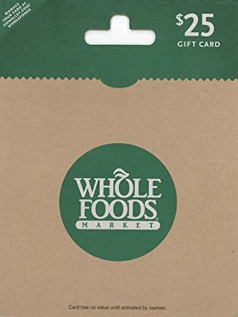 Amazon.com: Whole Foods Market $25 Gift Card: Gift Cards