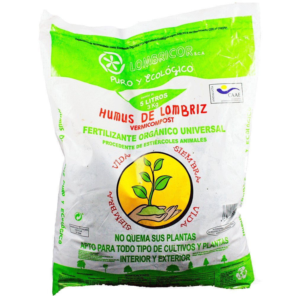 Humus de Lombriz Ecologico 5 L