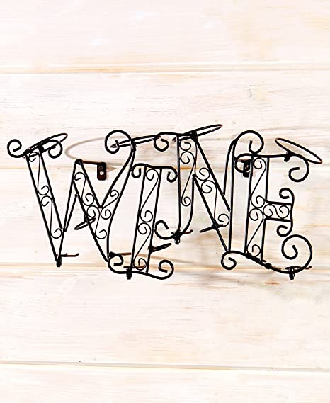 Amazon.com: Coffee and Wine Decorative Accent, Wine Rack ...
