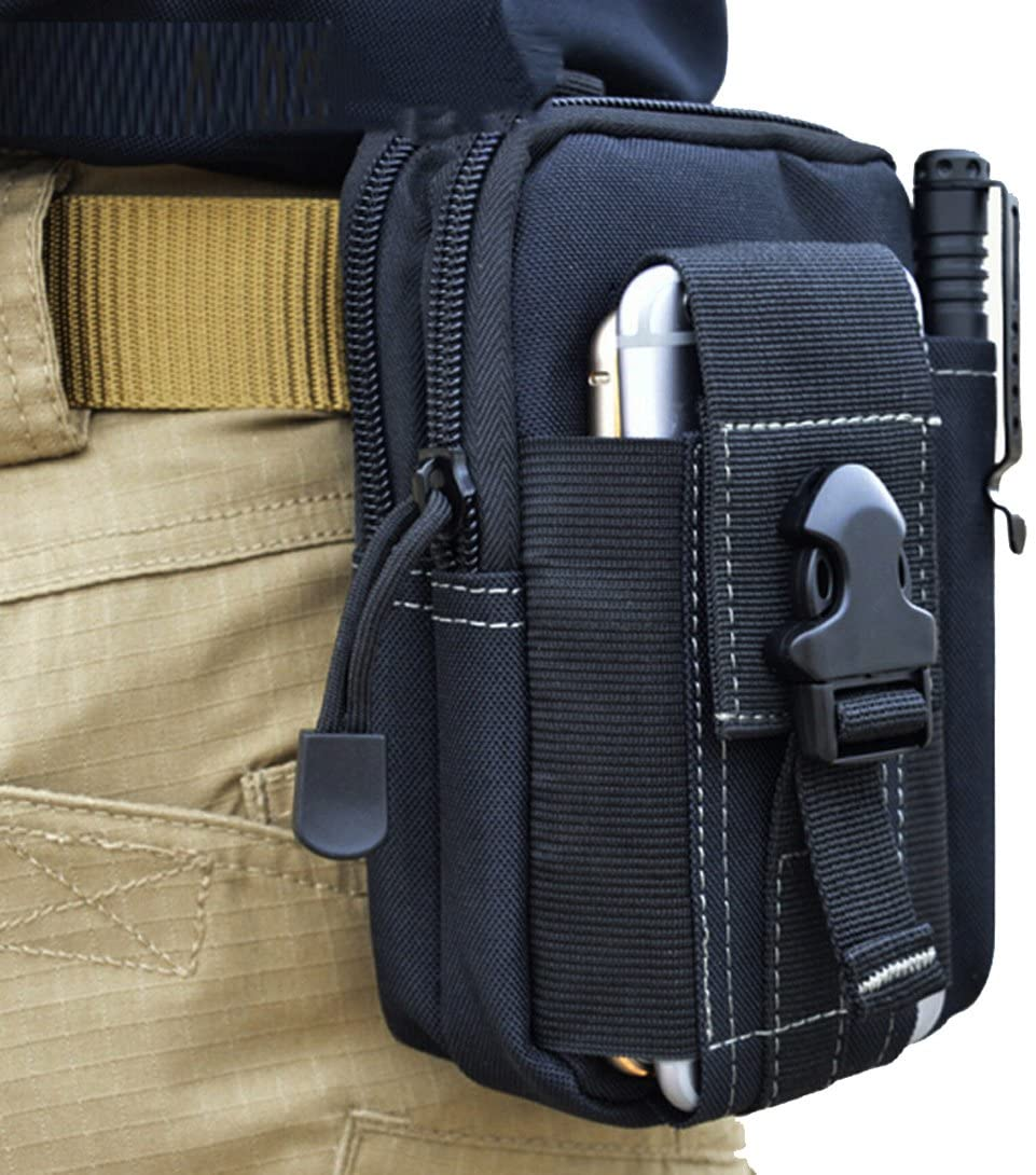 LefRight Tactical Molle Pouch EDC Utility Gadget Outdoor Men Waist Bag with Phone Belt Clip Holder Holster for iPhone 6s//7//X Samsung S8 Pixel Moto Z Force Play