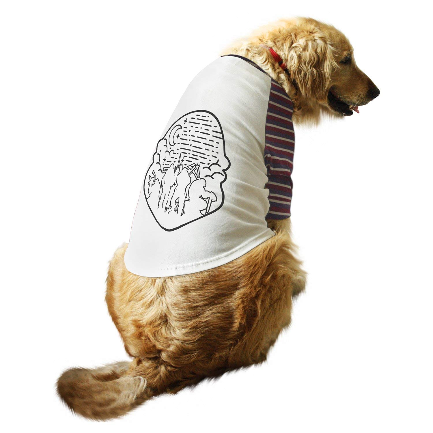 Ruse Pet Clothes Ninja Turtle Printed Striper Full Sleevess Round Neck Raglan Dog Streetwear T Shirt Tees Apparel For Dogs Amazon In Pet Supplies