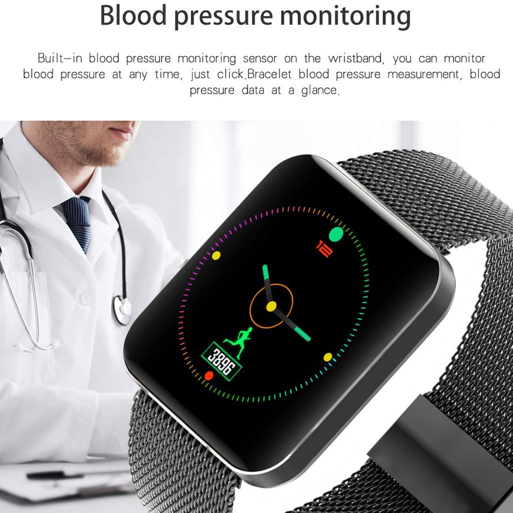 Amazon.com: Star_wuvi 1.54inch Heart Rate Activity Step Counter Music Control Smart Watch Bracet for Kids Women Men: Watches