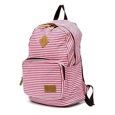 Amazon.com | OURBAG Canvas Backpacks Lightweight Laptop School Bag ...
