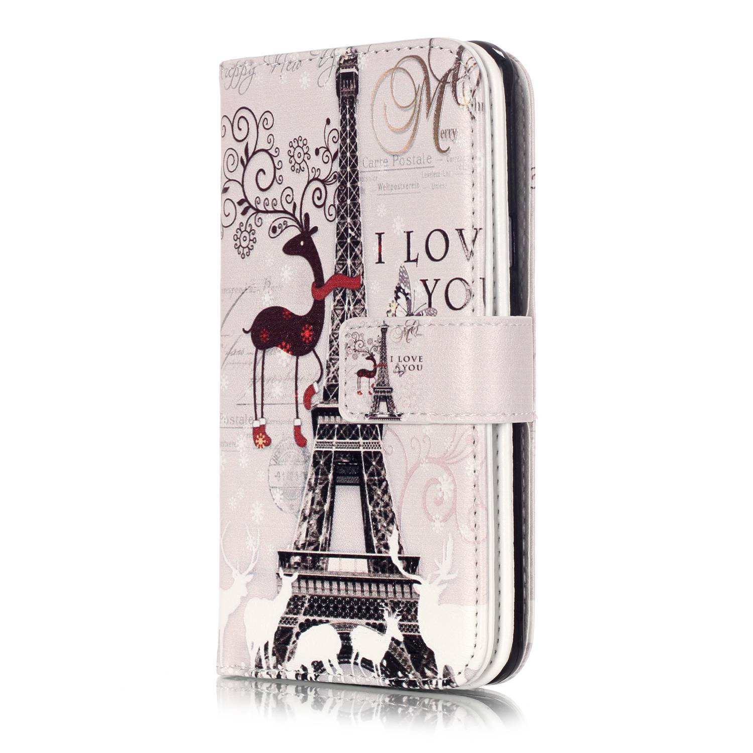 JuSha for Apply to Samsung Galaxy A5 2016 A510 Edge Case PU Leather Wallet Magnetic Cover Skin(Peacock mobile phone case)