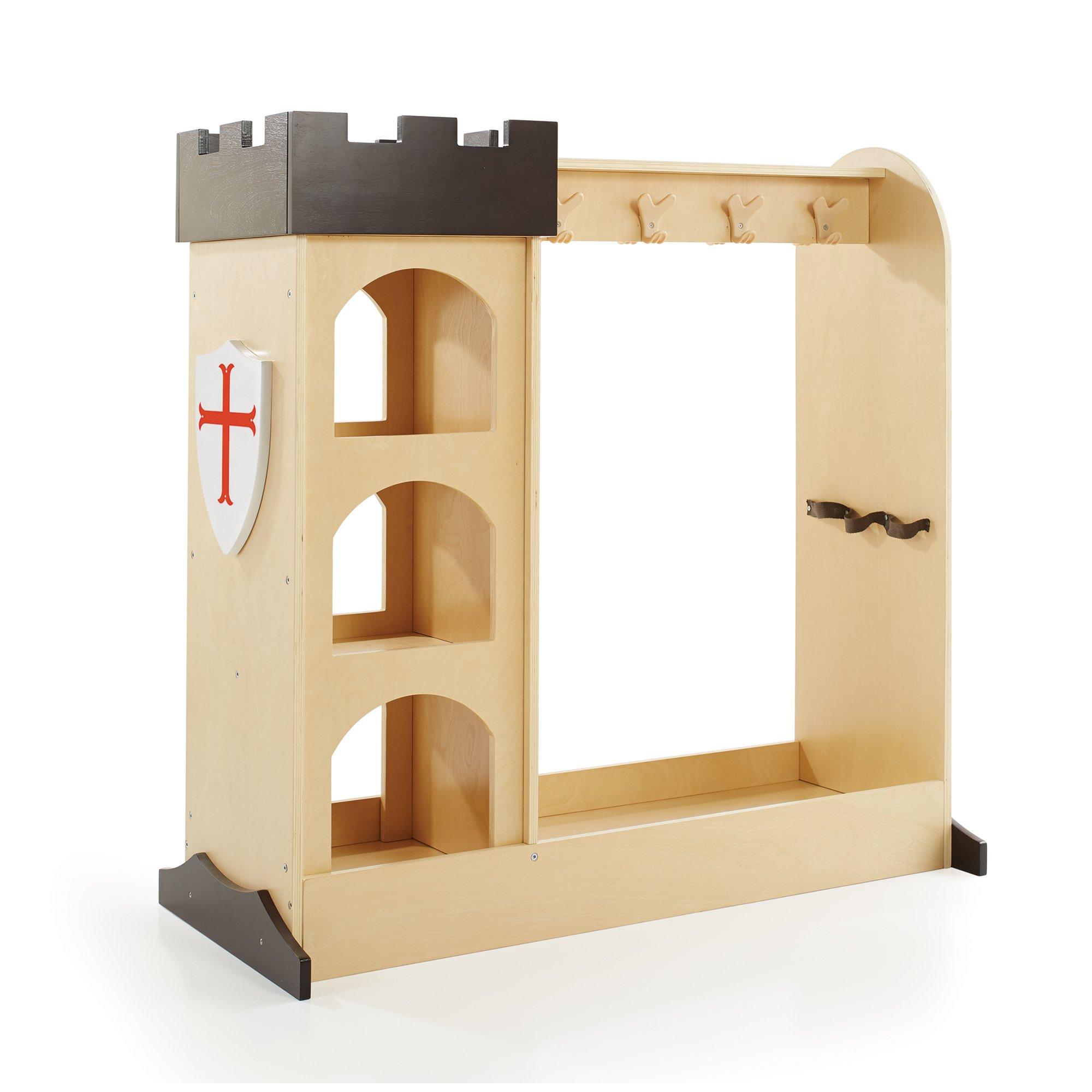 Guidecraft Children's Castle Dramatic Play Storage Center - Armoire, Dresser Kids' Furniture