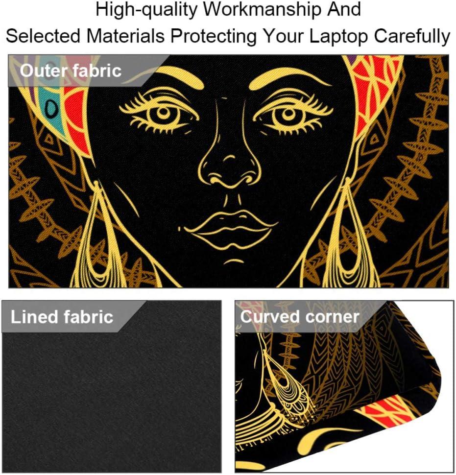 Laptop Bag Satchel Tablet Sleeve Bussiness Shoulder Bag Document Handbag Briefcase 15x5.4 Inch African Woman