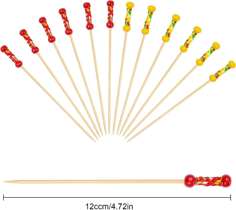 Mezclador C/óctel Bamb/ú Frutas XiYee Palos de C/ÓCtel Palos 200 Palitos Horquillas para C/óctel Tenedores Desechables de Bamb/ú San Valent/ín Boda Fiesta Cocteler/ía Pinchos Boda Fiesta
