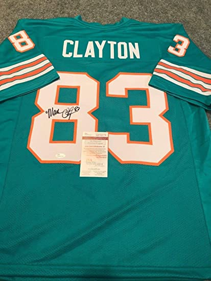 various colors 21b3e e5911 MARK CLAYTON AUTOGRAPHED SIGNED MIAMI DOLPHINS JERSEY JSA ...