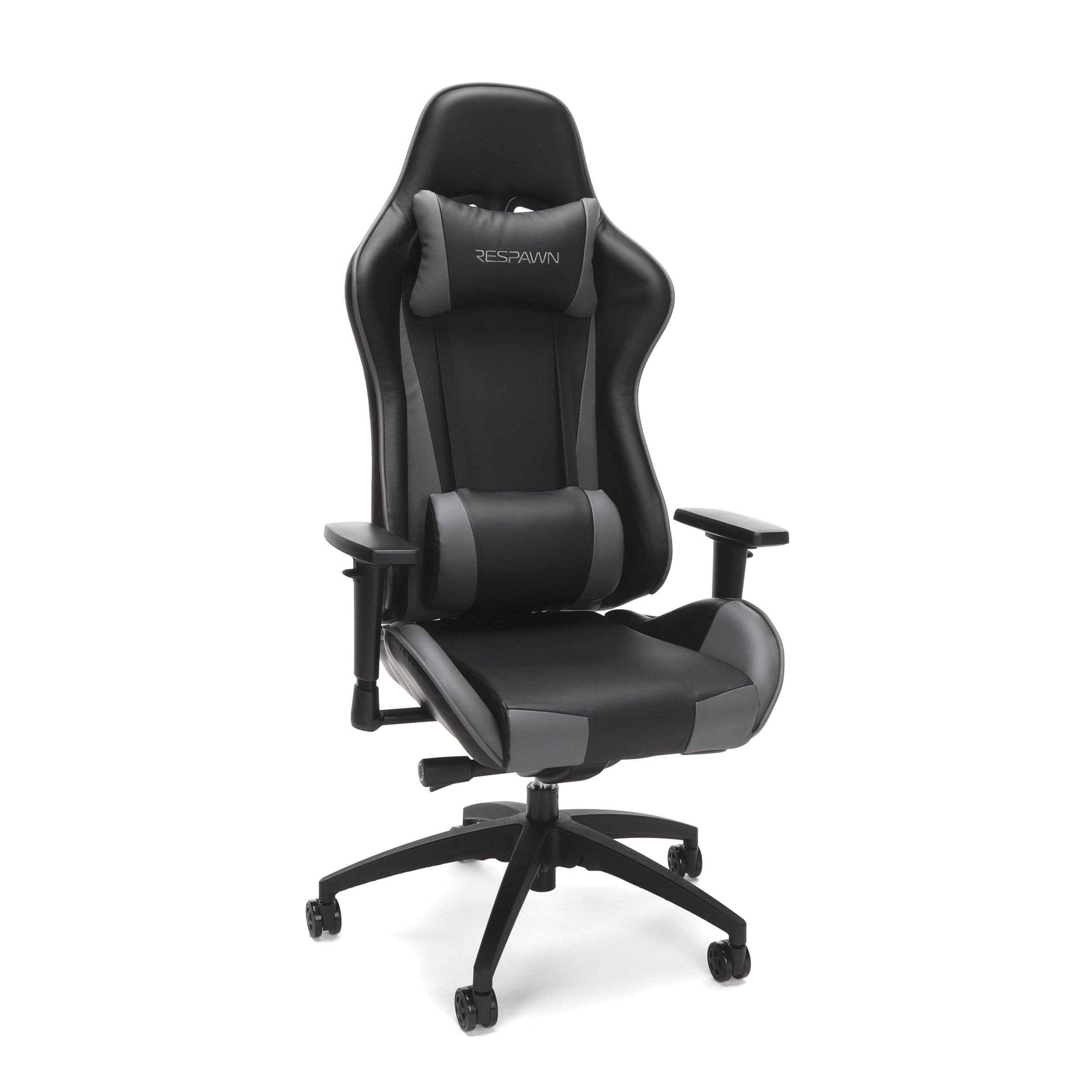 RESPAWN-105 Racing Style Gaming Chair - Reclining Ergonomic Leather Chair, Office or Gaming Chair (RSP-105-GRY)