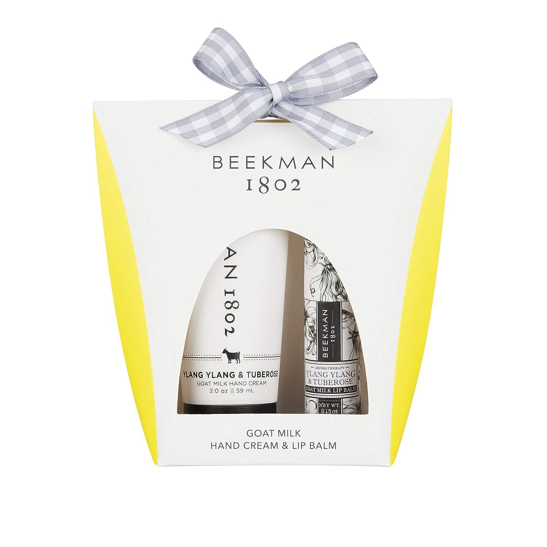 Beekman 1802 Hand Cream and Lip Balm Gift Set Ylang Ylang 2oz Hand Cream & Lip Balm Set