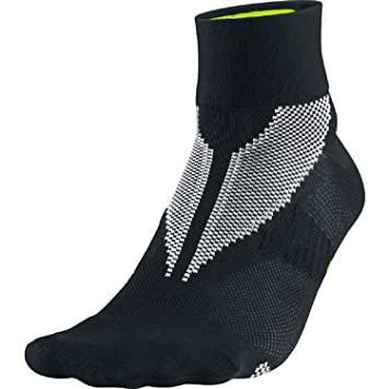Nike One-Quarter - Calcetines de running multicolor negro/amarillo Talla:small