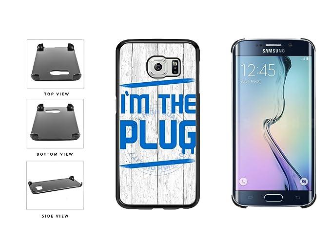 Amazon.com: Im The Plug - Carcasa de plástico para Samsung ...