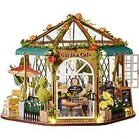 CUTEBEE Dollhouse Miniature with Furniture, DIY Wooden Dollhouse Kit Plus Dust Proof, 1:24 Scale Creative Room Idea…