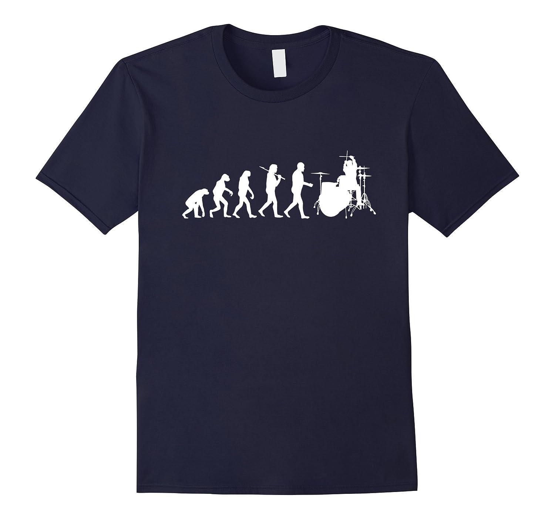 Drummer Evolution Drum Player T-Shirt-TD