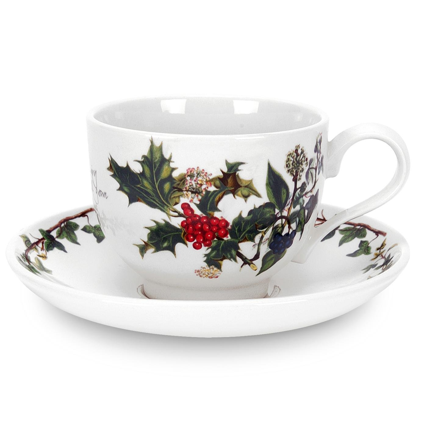 Portmeirion Holly and Ivy Teacup and Saucer Set of 6 64820