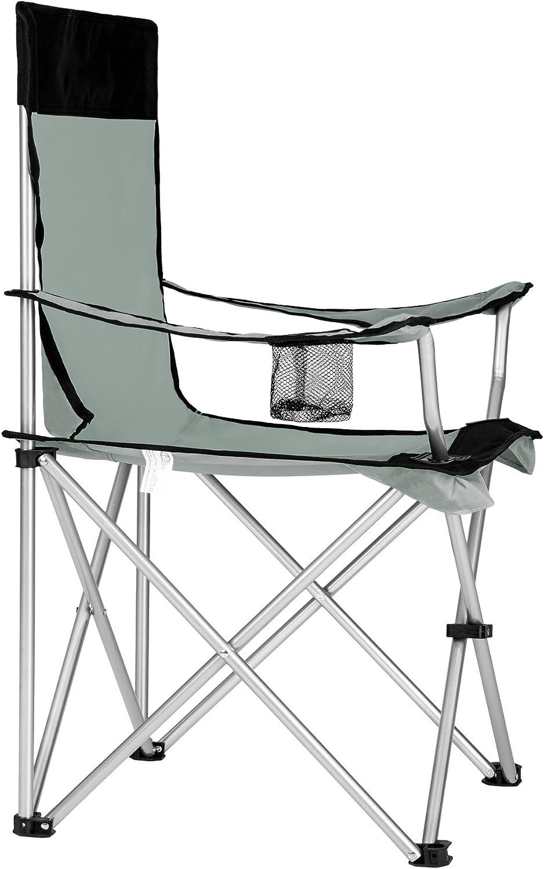 Pr/áctica Bolsa de Transporte cantidades Portabebidas TecTake Silla de Camping Plegable