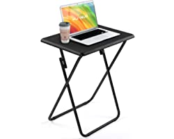 HUANUO Folding TV Tray Table, Tray Table with No Assembly Required, TV Dinner Tray for Eating, Foldable Snack Table for Bed &