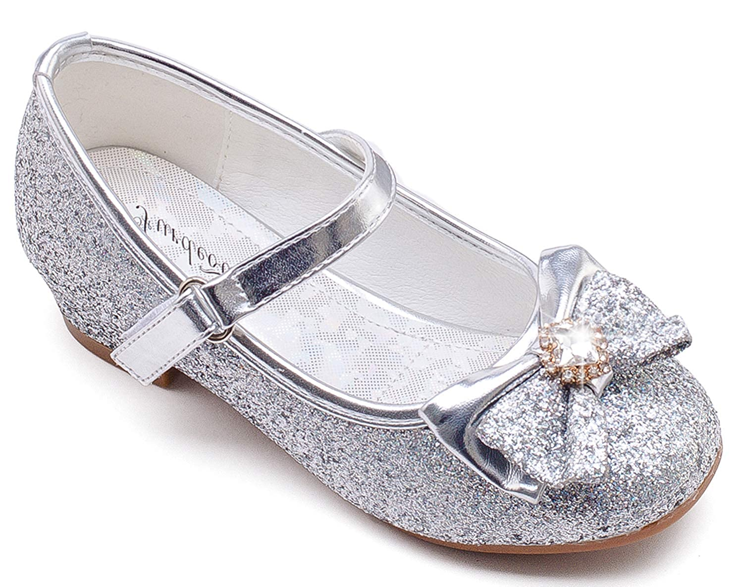 Furdeour Silver Mary Jane Glitter Shoes
