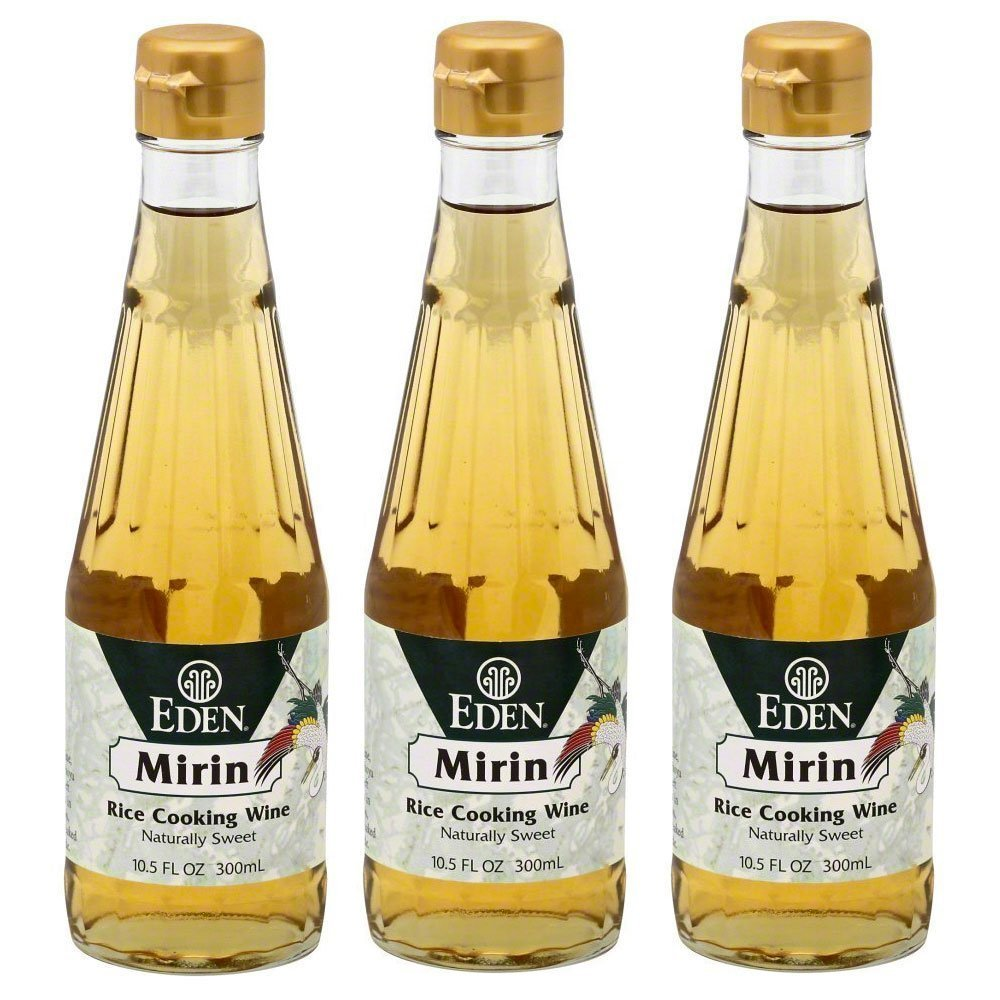 Eden Foods Mirin Rice Cooking Wine 3 Pack Value Deal by Eden