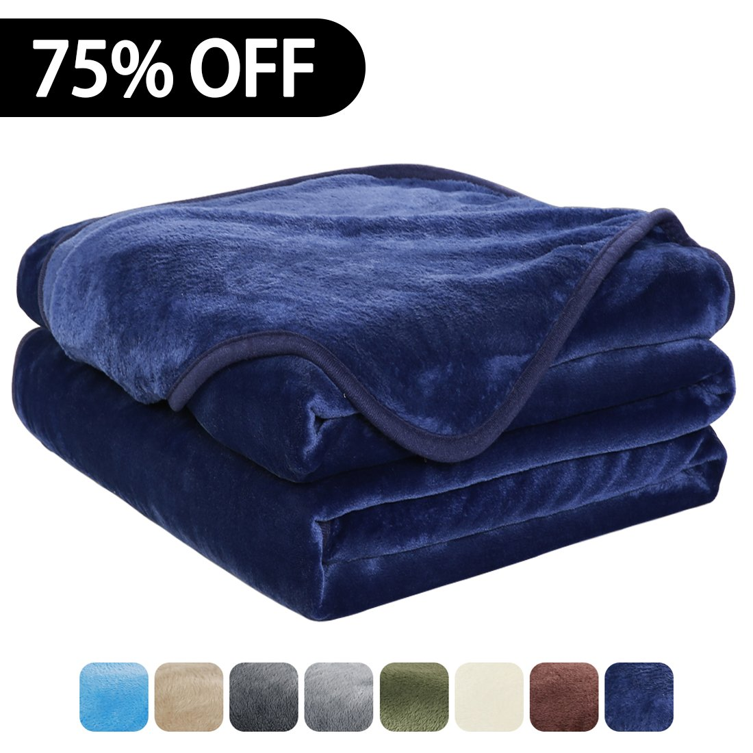 Luxury Fleece Super Soft Thermal Blanket Warm Fuzzy Microplush Lightweight Blankets