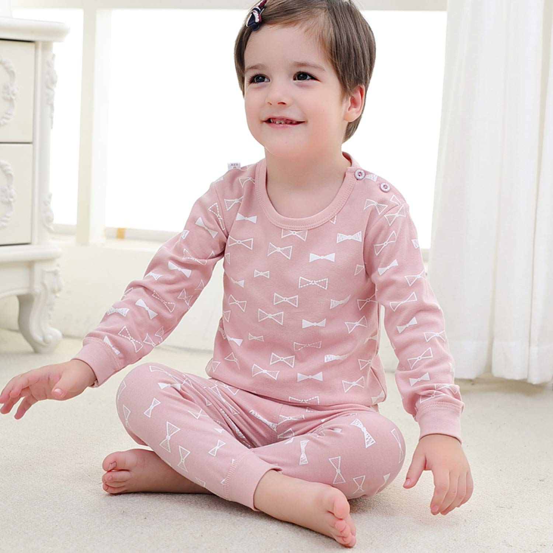 Tulucky Baby Unisex Pajamas,Tee and High Waist Pant 2-Piece Toddler Clothes Set