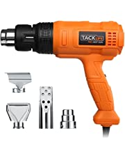 TACKLIFE HGP70AC Professional Heat Gun 1500w 122℉~ 1022℉(50℃- 550℃)with Three-Temperature Settings Four Nozzle Attachments for Stripping Paint, Bending Pipes, Lighting Charcoal, Package May Vary