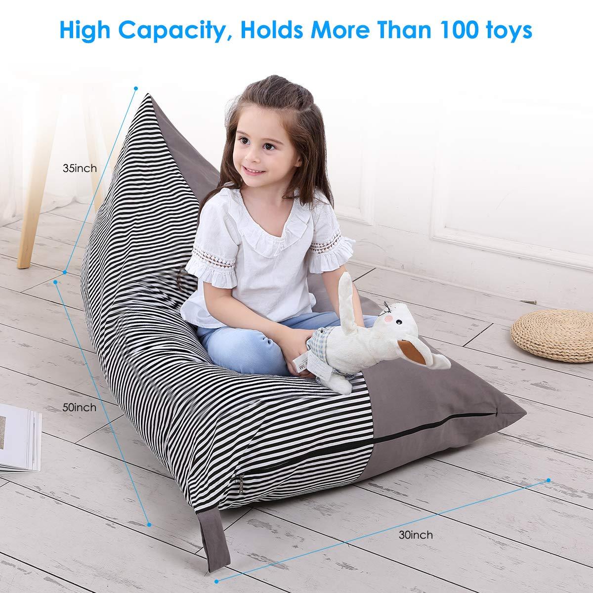 faltbare Boden Stuhl Sofa Kinder Spielzeug Speicherorganisator Extra Gro/ße Spielzeug Aufbewahrungstasche Tier Sitzsack Stuffie Sitz