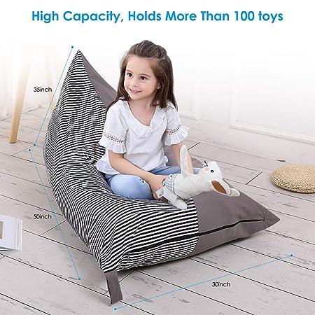 Extra Große Spielzeug Aufbewahrungstasche Tier Sitzsack Lagerung Stuffie Sitz, faltbare Boden Stuhl Sofa Kinder Spielzeug Speicherorganisator für Kinder: ...