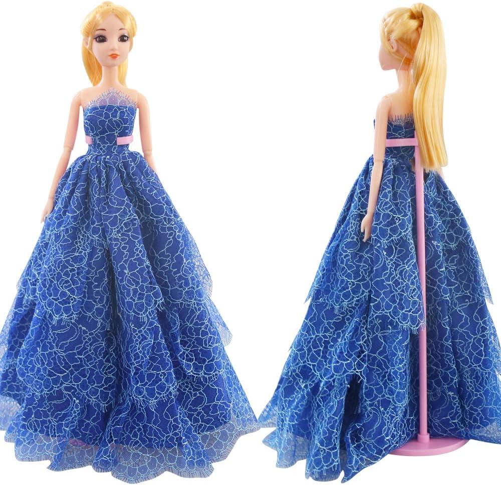 1 Set Handmade Fashion Clothes Dress For  Doll Gift Color Random Kp