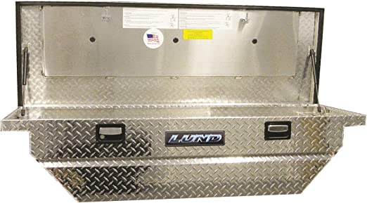 Lund//Tradesman 4455T 56-Inch Mid-Size Aluminum Flush Mount Truck Tool Box with Single Lid