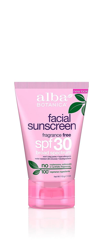 Alba Botanica Facial Sunscreen SPF 30, 4 Fluid Ounce 215241