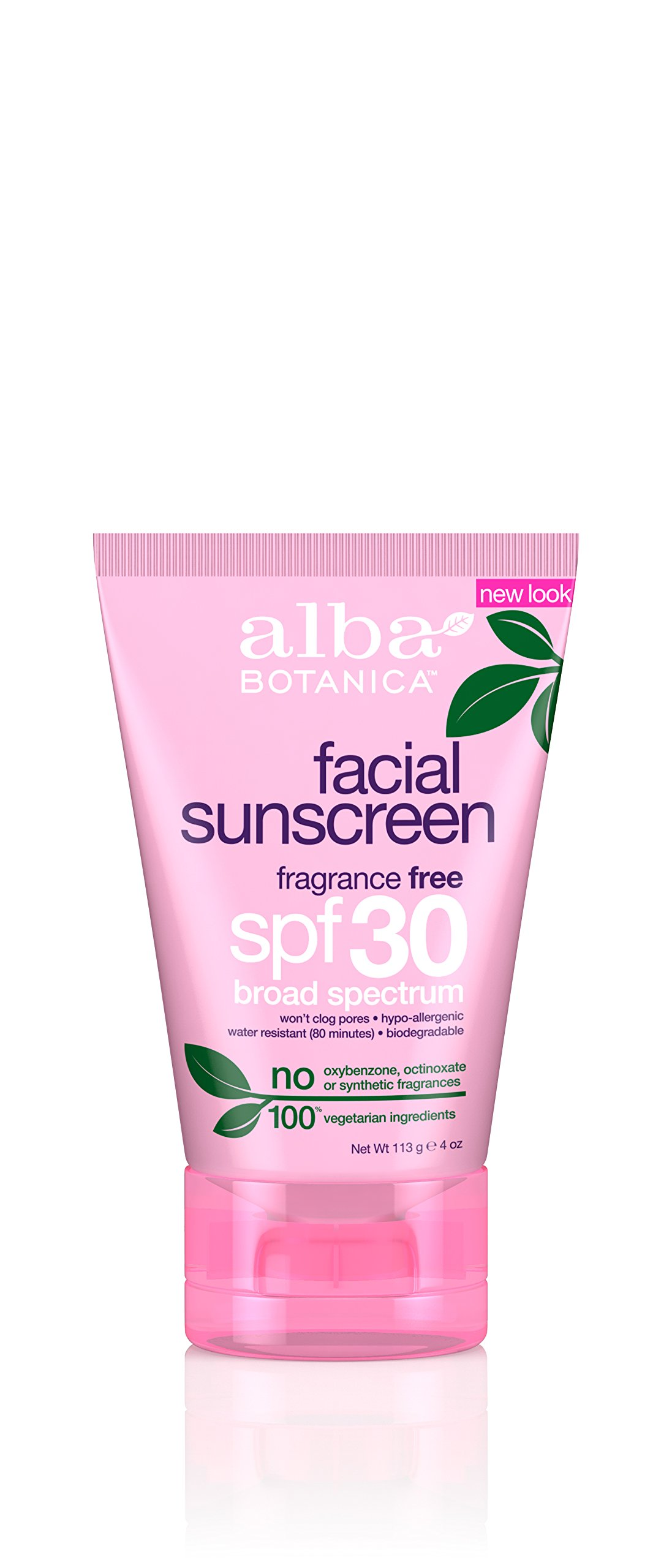 Alba Botanica Very Emollient, Facial Sunscreen SPF 30, 4 Ounce