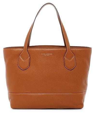 223bcdcfdd3e Amazon.com  Marc Jacobs Classic Shopper Leather Tote Bag (Saddle)  Shoes