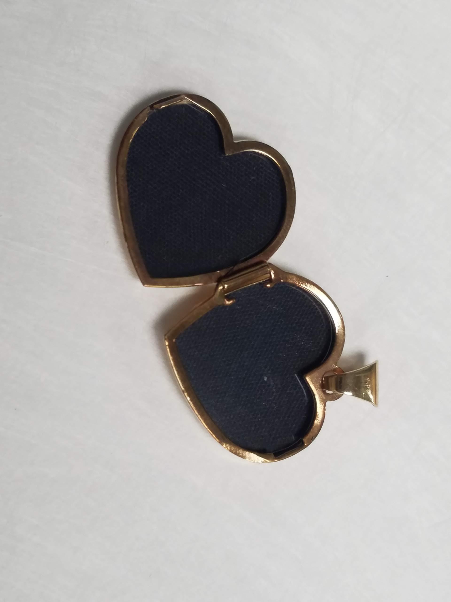 14 Karat Yellow Gold Two Photo Heart Locket