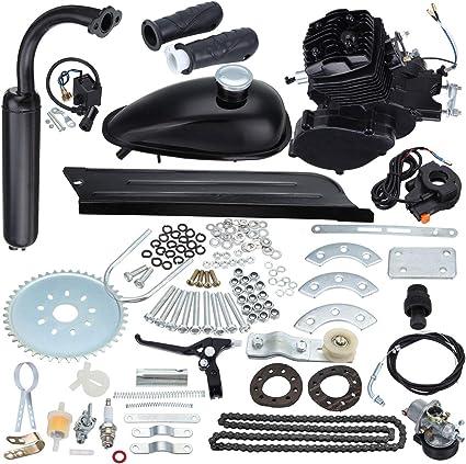 Samger Samger 2 tiempos Kit Motor de Bicicleta Gas Motor Kit de Conversión de Bicicleta (Negro, 80CC): Amazon.es: Coche y moto